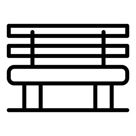 Classic bench icon, outline style Иллюстрация