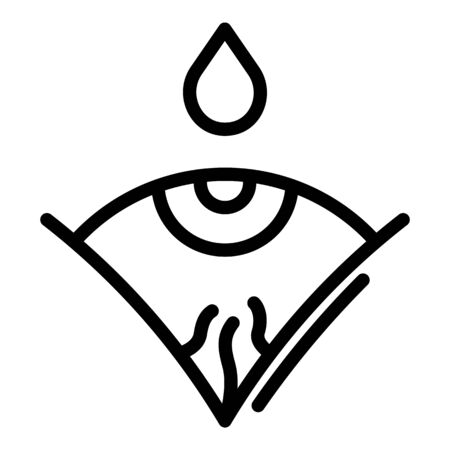 Drop over the eye icon, outline style