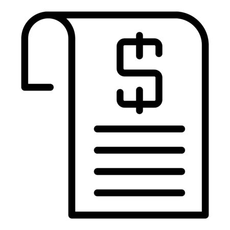 Loan agreement icon, outline style