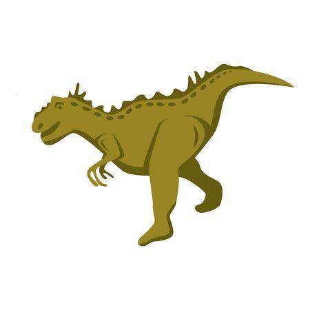 Rex dino icon, isometric style
