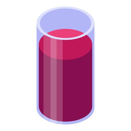 Berry juice glass icon. Isometric of berry juice glass vector icon for web design isolated on white background