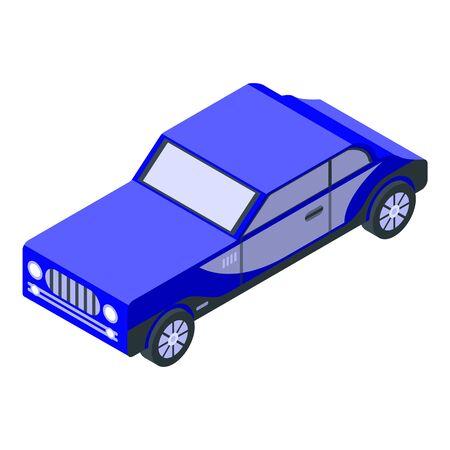 Blue old car icon, isometric style Zdjęcie Seryjne - 137175440