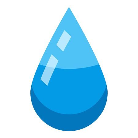 Water drop icon, isometric style Illustration