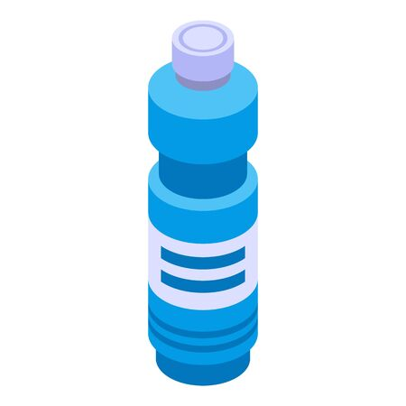 Bleach blue bottle icon. Isometric of bleach blue bottle vector icon for web design isolated on white background