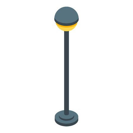 Street light pillar icon, isometric style Illustration