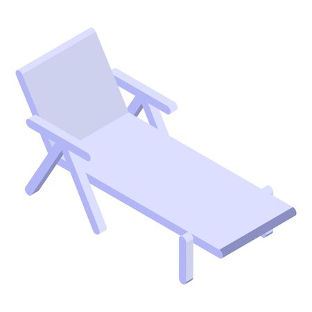 Beach chair icon. Isometric of beach chair vector icon for web design isolated on white background Vecteurs
