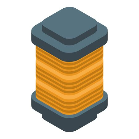 Copper coil icon. Isometric of copper coil vector icon for web design isolated on white background