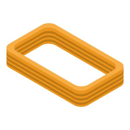 Cord coil icon, isometric style
