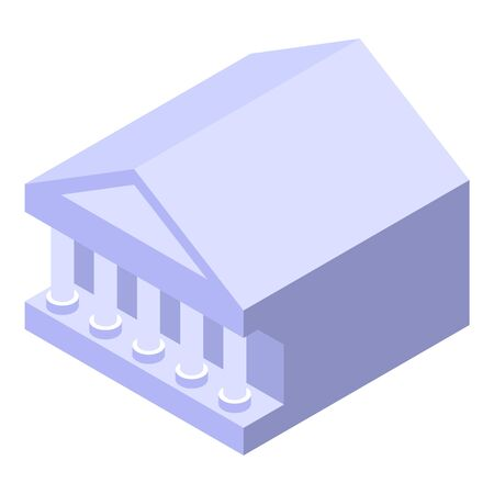 Bank building icon. Isometric of bank building vector icon for web design isolated on white background Archivio Fotografico - 136957426