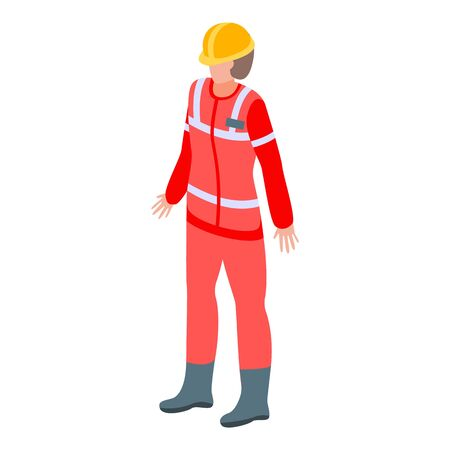 Emergency help man icon. Isometric of emergency help man vector icon for web design isolated on white background