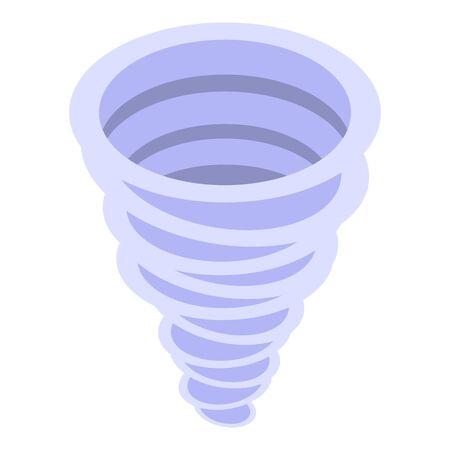 Cyclone tornado icon, isometric style
