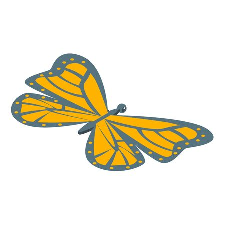Monarch butterfly icon, isometric style