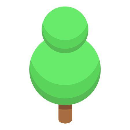 Round tree icon, isometric style Иллюстрация