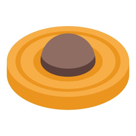 Food cookie icon. Isometric of food cookie vector icon for web design isolated on white background