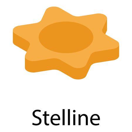 Stelline pasta icon, isometric style Vettoriali