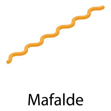 Mafalde pasta icon, isometric style
