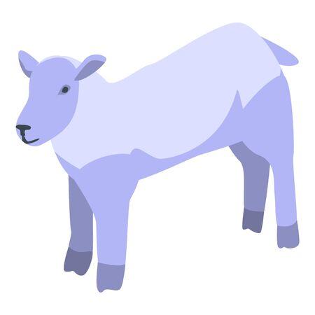 Mammal sheep icon, isometric style