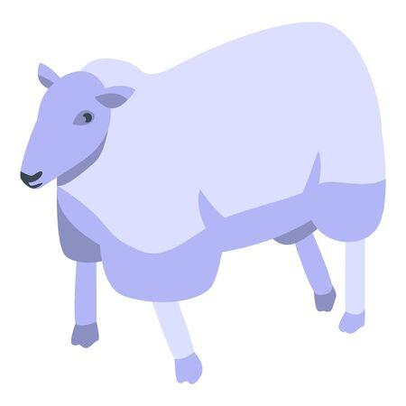 Cute sheep icon, isometric style Çizim