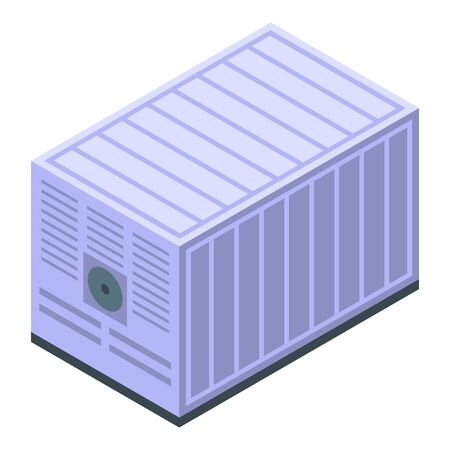 Generator container icon. Isometric of generator container vector icon for web design isolated on white background