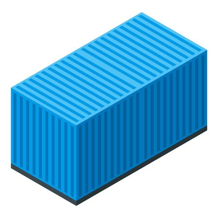 Dockyard container icon, isometric style Banque d'images - 137580124