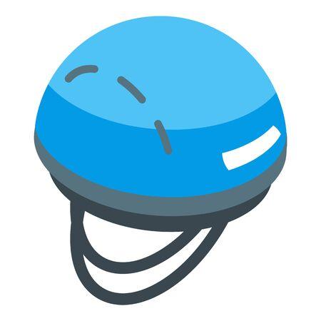 Hiking helmet icon, isometric style Ilustração