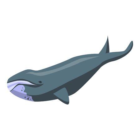 North whale icon, isometric style Ilustracje wektorowe
