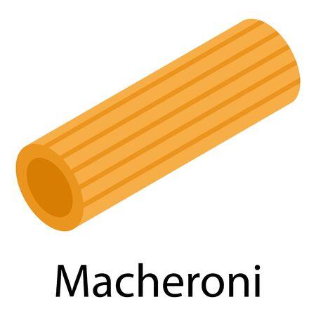 Macheroni icon, isometric style