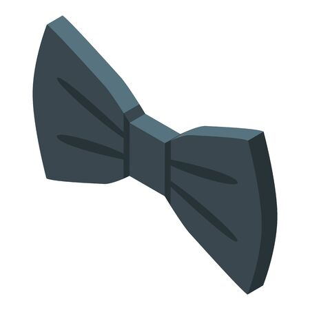 Suit bowtie icon. Isometric of suit bowtie vector icon for web design isolated on white background Ilustración de vector