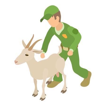 Veterinary service icon, isometric style