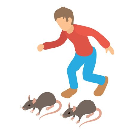 Rodent control icon. Isometric illustration of rodent control vector icon for web Illustration