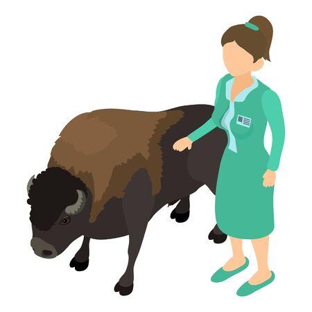 Animal treatment icon, isometric style