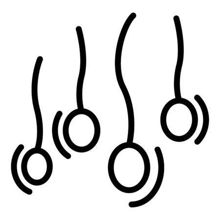 Man sperm icon, outline style Vettoriali