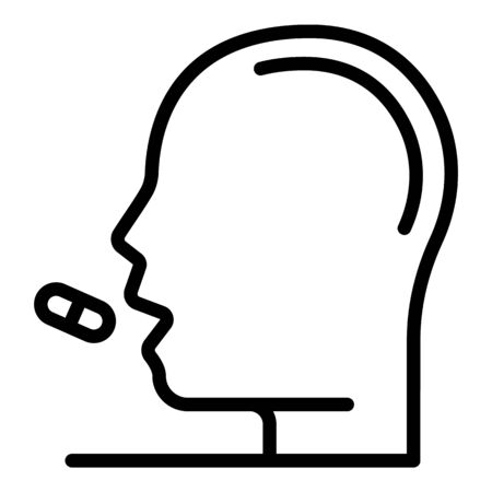 Take morning pill icon, outline style