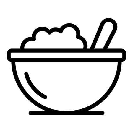 Kid food bowl icon, outline style