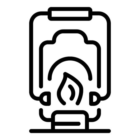 Camp lamp icon, outline style Иллюстрация
