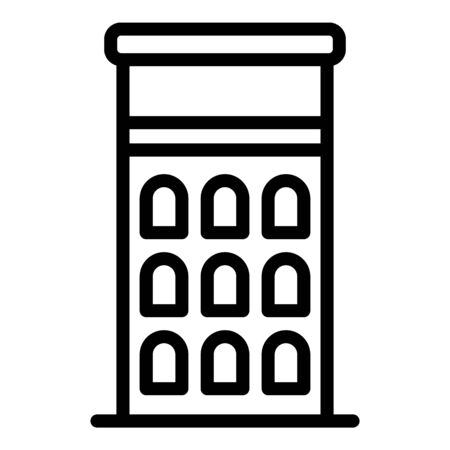 Riga building icon, outline style