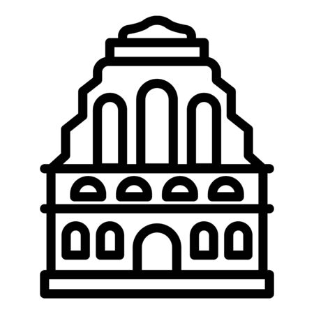 Old Riga building icon, outline style
