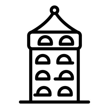 Riga tower icon, outline style