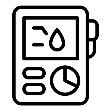 Blood tester icon, outline style