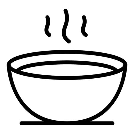 Hot bowl soup icon, outline style Иллюстрация
