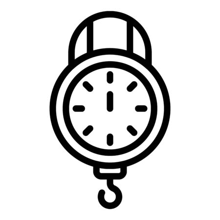 Kitchen mechanical scales icon, outline style