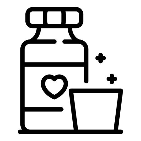 Medical glucose syrup icon, outline style