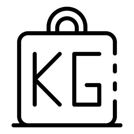 Fat weight kg icon, outline style Illusztráció