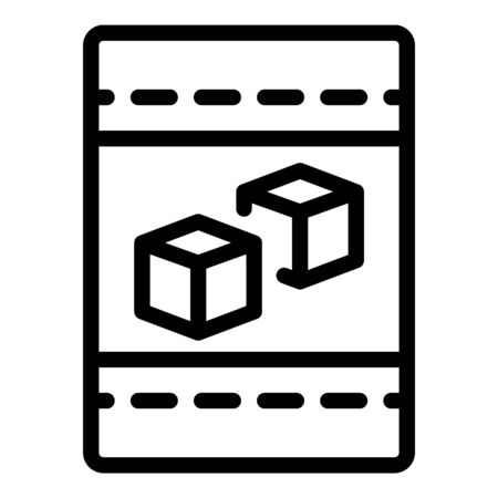 Sugar package icon, outline style