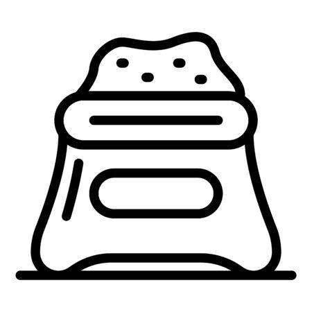 Sugar sack icon, outline style