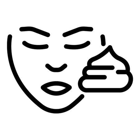 Face sunscreen cream icon. Outline face sunscreen cream vector icon for web design isolated on white background Archivio Fotografico - 137255694
