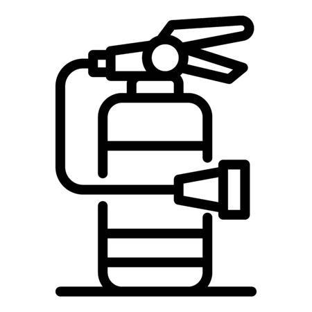 Fire extinguisher icon, outline style