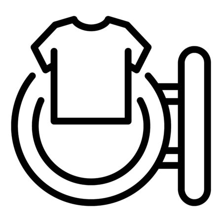 Clean shirt from washing machine icon, outline style Banque d'images - 137801043