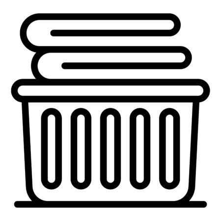 Clothes basket icon, outline style Stok Fotoğraf - 137801077