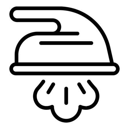 Vapor iron icon, outline style 写真素材 - 137801725